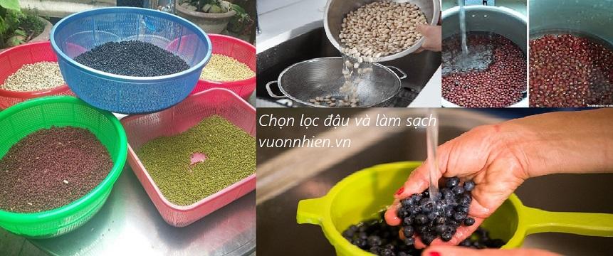 Bột ngũ cốc Đà Nẵng - Đậu quê, rang mộc 6