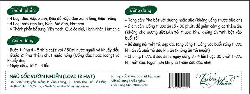 Bột ngũ cốc Đà Nẵng - Đậu quê, rang mộc 5