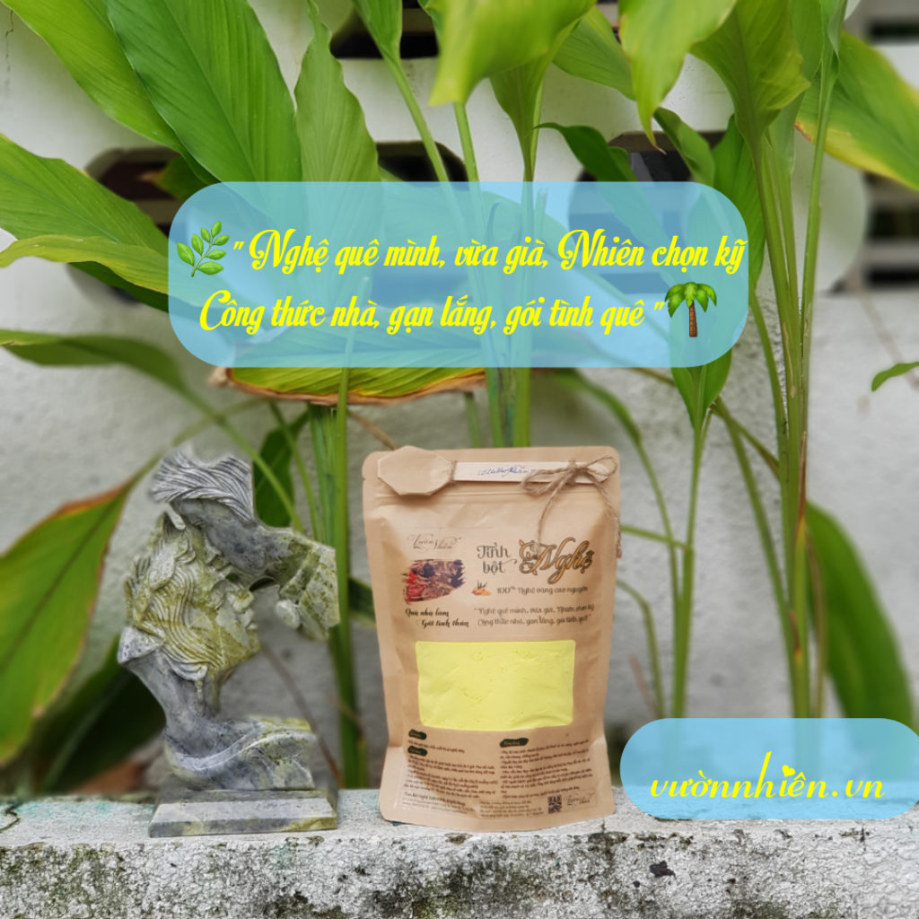 Tinh bột nghệ Đà Nẵng - Nguyên chất - Vườn Nhiên 5